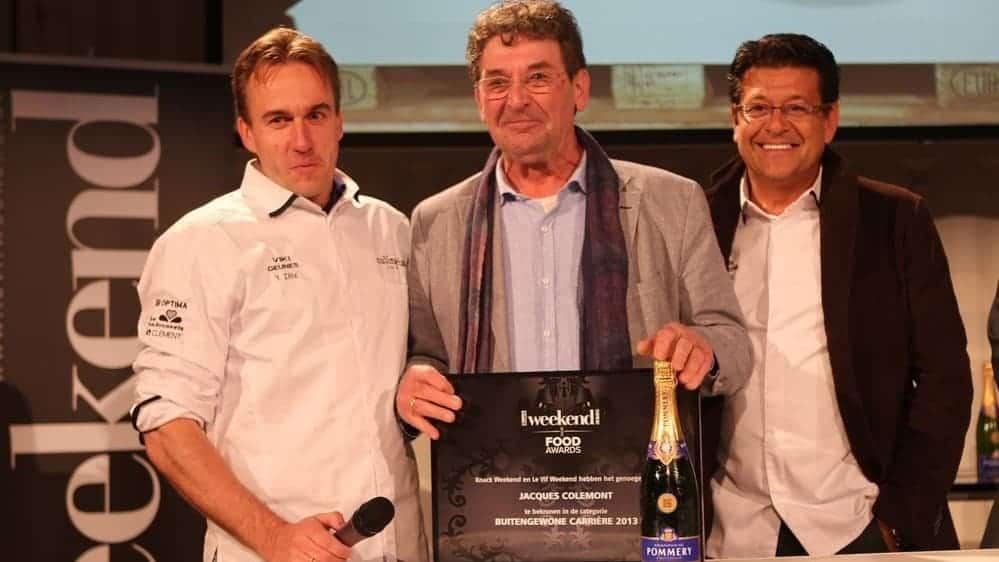 Mastercooks -  In 2013 ontving Jacques Colement in 2013 de 'Food Award voor Uitzonderlijke Carrière'.  Foto: Weekend-Knack
