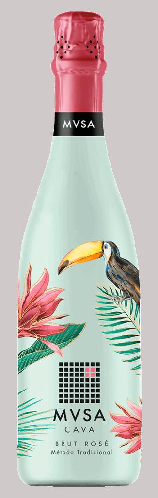 Voor haar nieuwe limited edition ging MVSA Cava voor een illustratie van deze hippe vogel in een fleurig mintgroene geheel met roze kleuraccenten.
