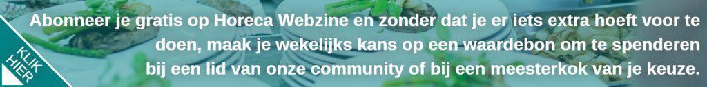 gratis abonnement Horeca Webzine beroepen