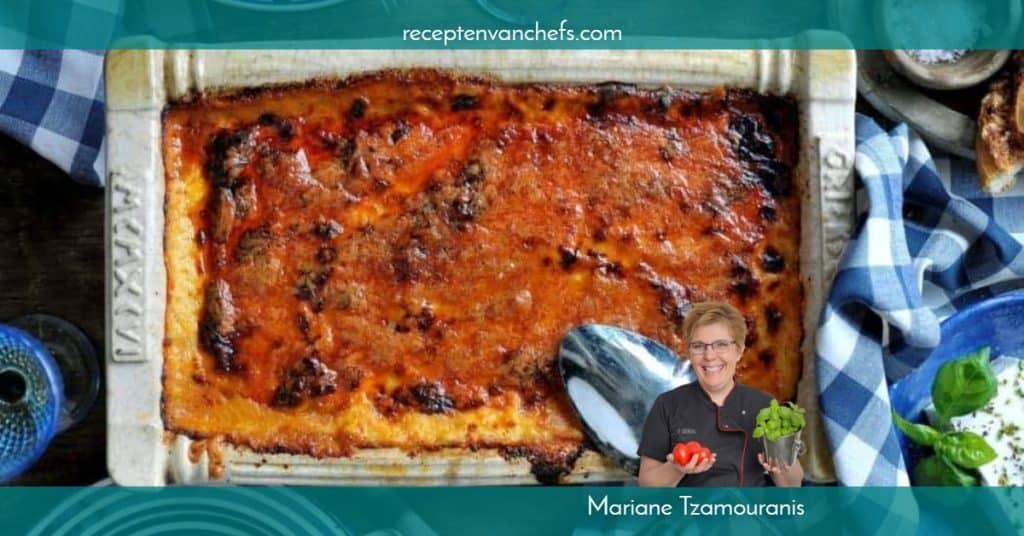 recepten van chefs Mariane Tzamouranis moussaka