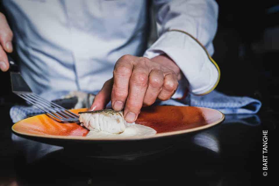 Patrick Caignau skrei afwerking gerecht vis van de maand Horeca Webzine