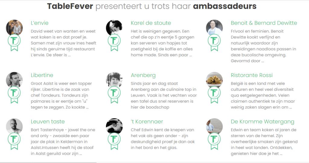 tablefever ambassadeurs