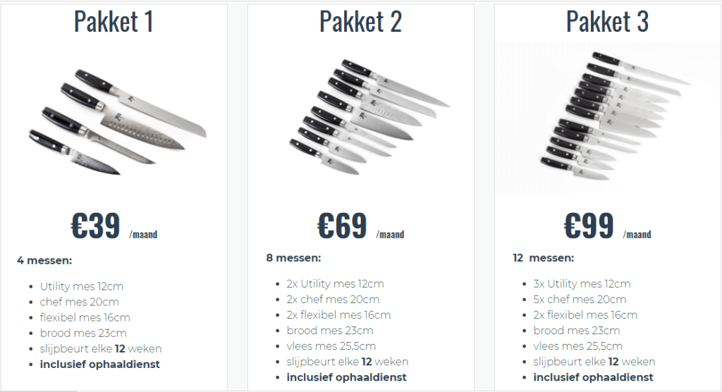 chef knife leasing