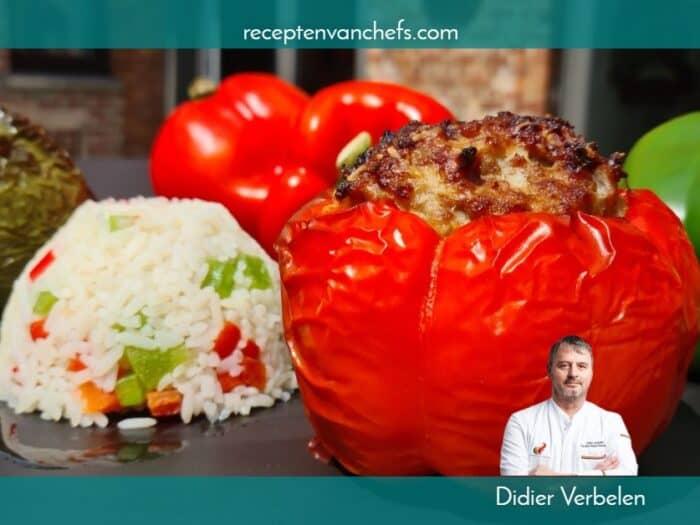 recepten van chefs Didier Verbelen gevulde paprika